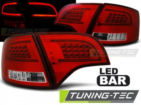 Audi A4 B7 1104 0308 Avant Red White Led Bar