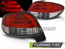 PEUGEOT 206 10.98- RED WHITE LED BAR