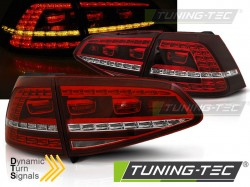 VW GOLF 7 13-17 RED WHITE LED GTI LOOK SEQ