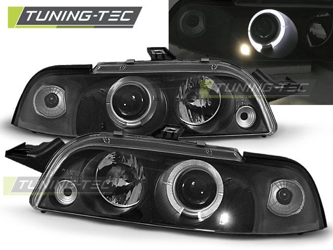 FARI ANTERIORI HEADLIGHTS FIAT PUNTO 1 11.93-09.99 ANGEL EYES BLACK