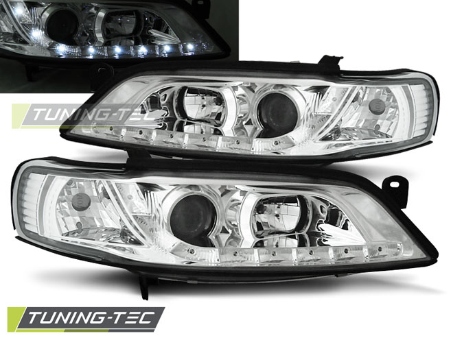 FARI ANTERIORI HEADLIGHTS OPEL VECTRA B 11.96-12.98 DAYLIGHT CHROME