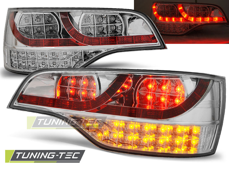 FANALI POSTERIORI LED AUDI Q7 06-09 CHROME LED  LOOK