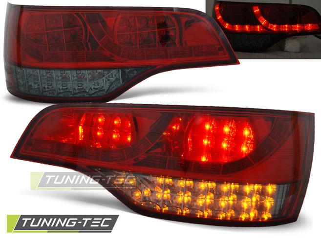 FANALI POSTERIORI LED AUDI Q7 06-09 RED SMOKE LED  LOOK