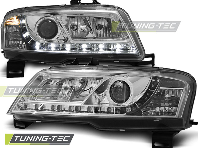 FARI ANTERIORI HEADLIGHTS FIAT STILO 3D 10.01-08 DAYLIGHT CHROME