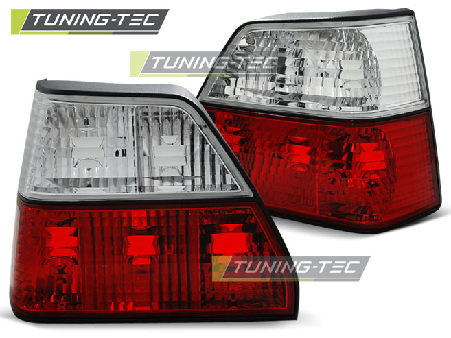 FANALI POSTERIORI TAILLIGHTS VOLKSWAGEN GOLF 2 83-91 RED WHITE