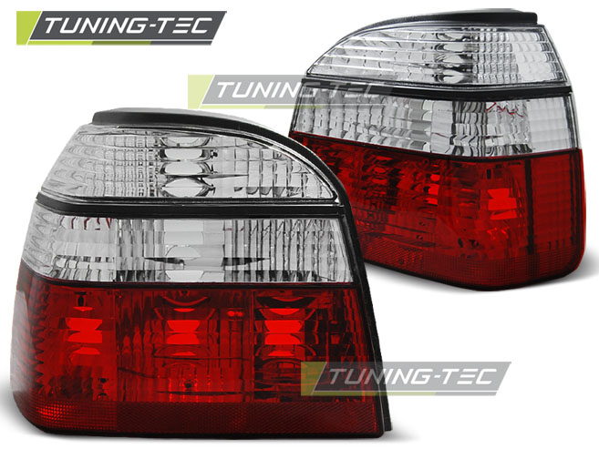 FANALI POSTERIORI TAILLIGHTS VOLKSWAGEN GOLF 3 09.91-08.97 RED WHITE