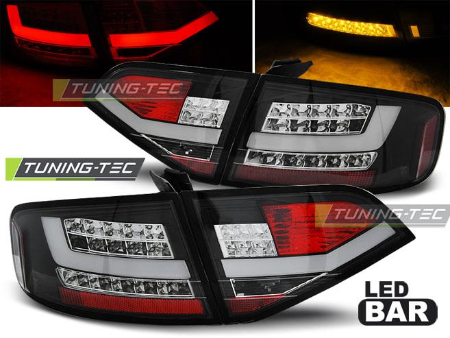 FANALI POSTERIORI LED AUDI A4 B8 08-11 SEDAN BLACK LED LOOK