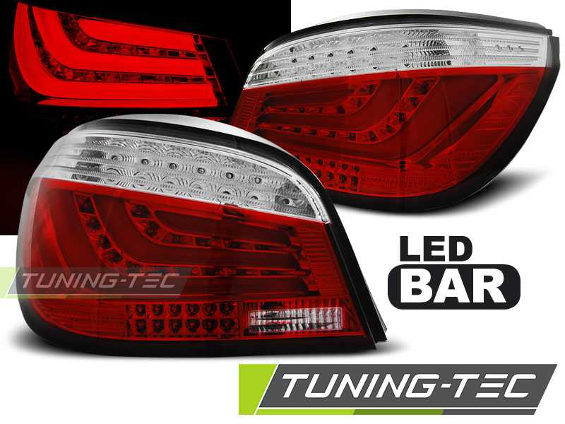 FANALI POSTERIORI BMW E60 07.03-02.07 RED WHITE LED BAR LOOK