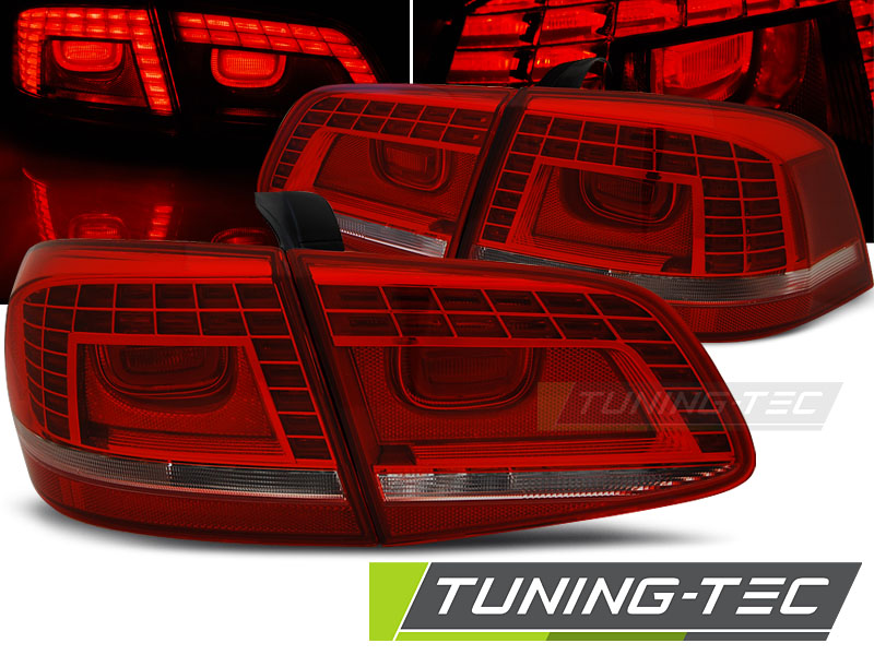 FANALI POSTERIORI VW PASSAT B7 SEDAN 10.10-10.14 RED WHITE LED LOOK