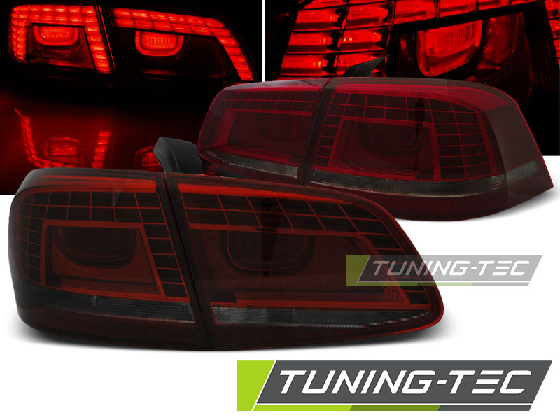 FANALI POSTERIORI VW PASSAT B7 SEDAN 10.10-10.14 RED SMOKE LED LOOK