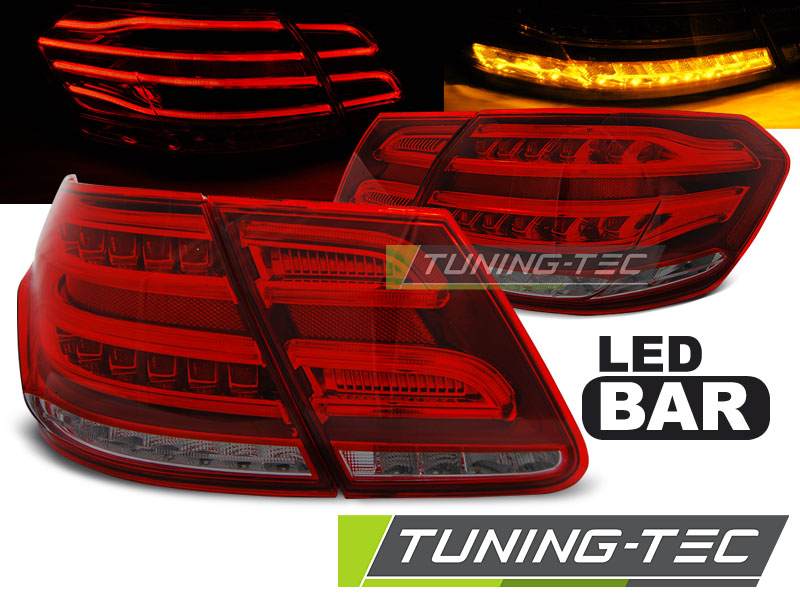 FANALI POSTERIORI MERCEDES W212 E-KLASA 09-13  RED SMOKE LED LOOK