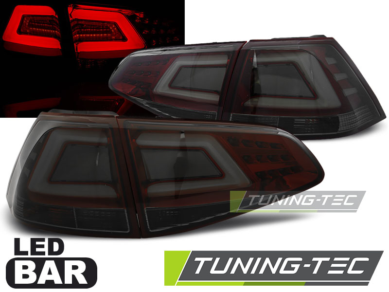 FANALI POSTERIORI VW GOLF 7 13- SMOKE RED LED BAR LOOK