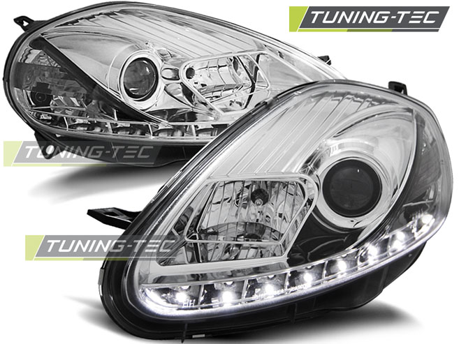 FARI ANTERIORI HEADLIGHTS FIAT GRANDE PUNTO 08-09 DAYLIGHT CHROME